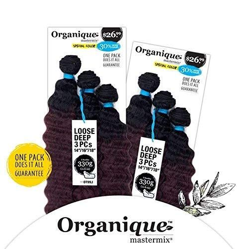 """Shake-N-Go Synthetic Organique Mastermix Weave Extension - LOOSE DEEP 3PCS 14""""/16""""/18"""" (OM3T1B427)"""