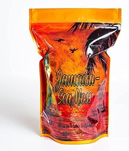 16oz Jamaica Seamoss Dried   Premium Quality   Raw Organic Seamoss for Gel   No GMO   Wildcrafted from Jamaica