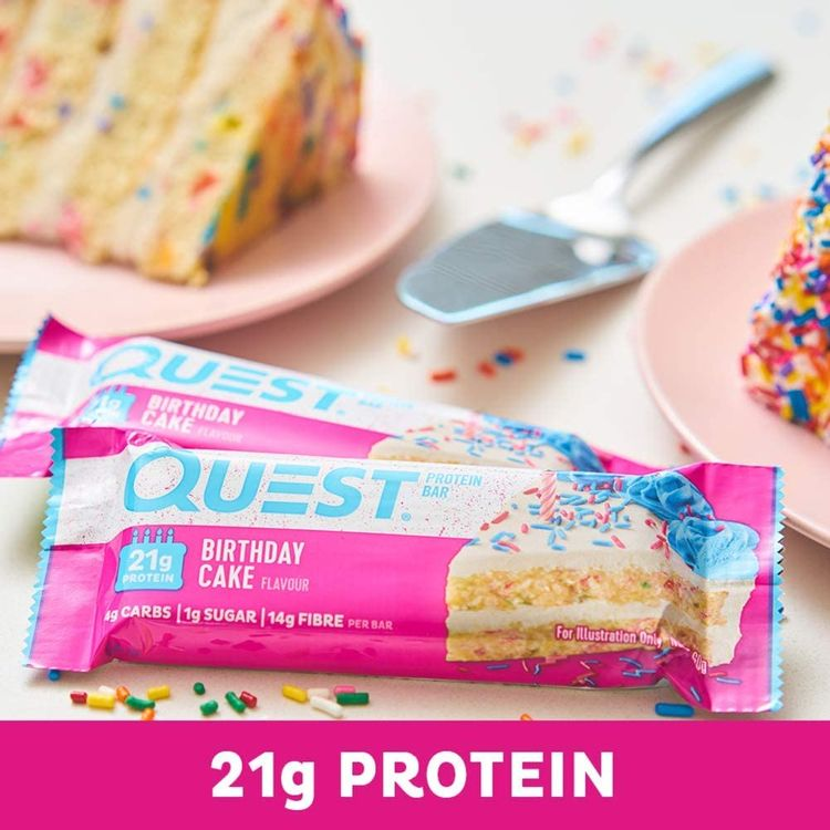 Quest Nutrition Birthday Cake - High Protein, Low Carb, Gluten Free, Keto Friendly, 12 Count
