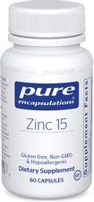 Pure Encapsulations Zinc 15 mg   Zinc Picolinate Supplement for Immune System Support, Growth and Development, Wound Healing, Prostate, and Reproductive Health*   60 Capsules
