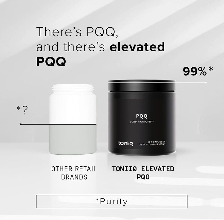 Ultra High Purity PQQ Capsules - 99%+ Highly Purified and Highly Bioavailable -120 Capsules - 20mg Concentrated Formula - Pyrroloquinoline Quinone Supplement