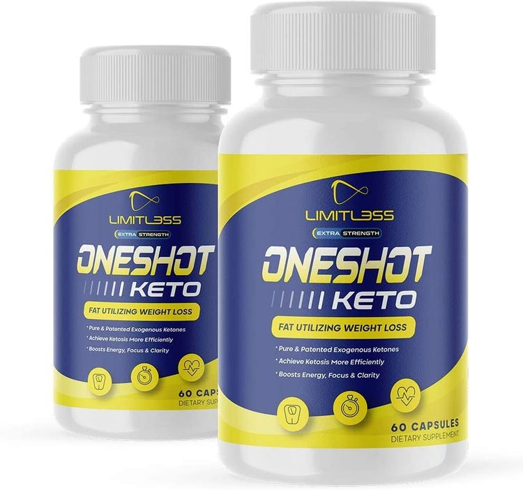 (2 Pack) One Shot Keto, BHB Ketones For Men And Women, 60 Day Supply