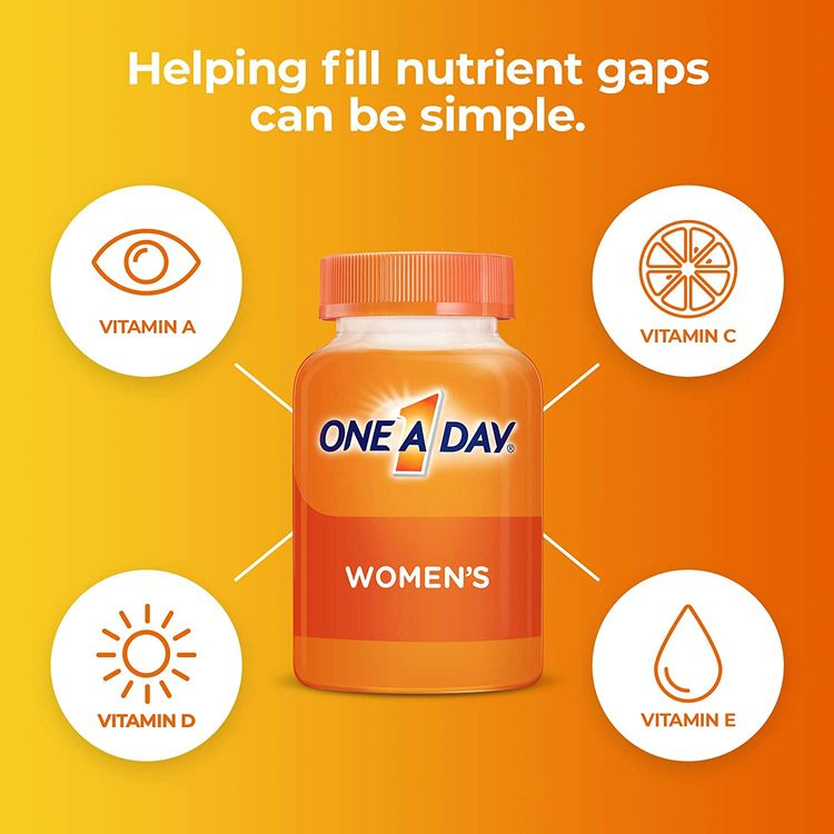 One A Day Women's Multivitamin, Supplement with Vitamin A, Vitamin C, Vitamin D, Vitamin E and Zinc for Immune Health Support, B12, Biotin, Calcium & More, 200 count