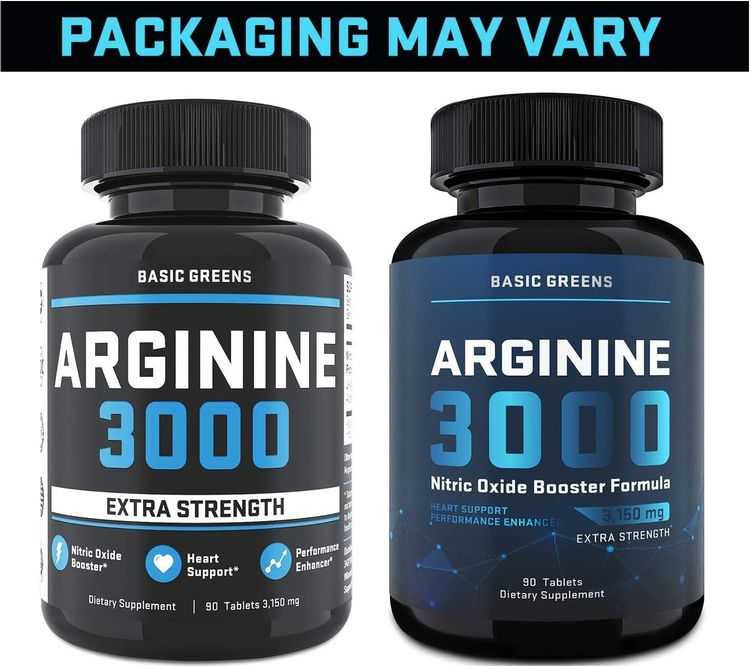 Maximum Strength L Arginine (3150mg) - Nitric Oxide Booster - L Arginine Supplement for Muscle Growth, Vascularity & Endurance - Highest Capsule Dose of Arginine Supplements for Men (90 Capsules)