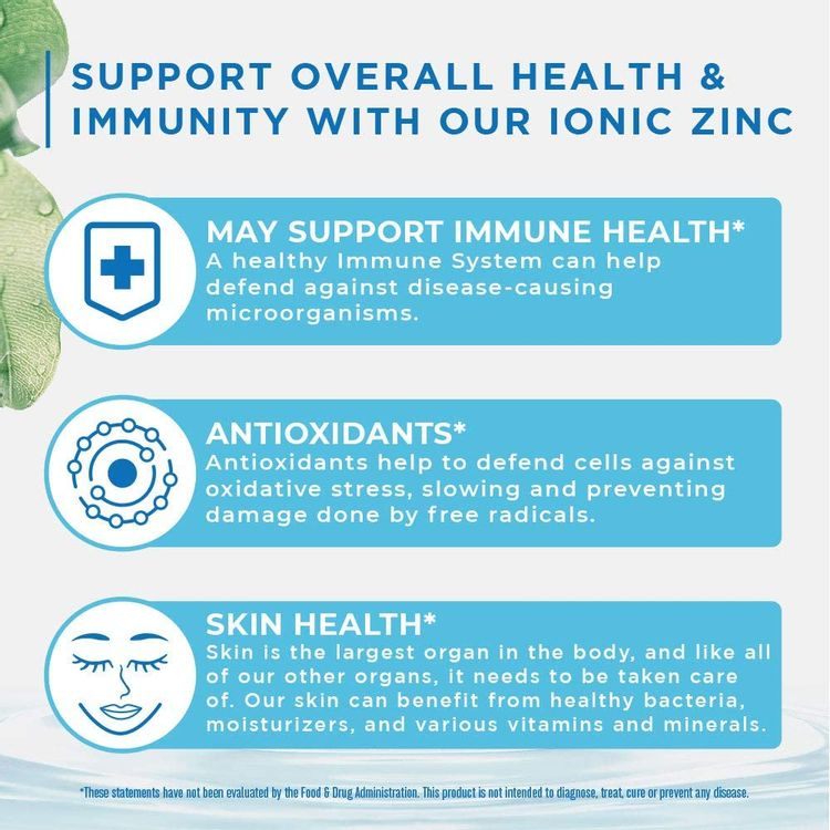 Ionic Zinc Liquid Drops by MaryRuth's for Skin Health and Immune Support   Pure Zinc Sulfate Supplement with Organic Glycerin for Adults & Kids   Vegan, Non-GMO & Gluten Free   40 Servings
