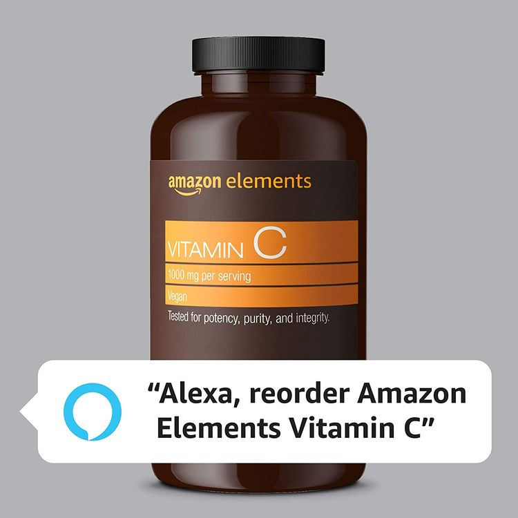Elements Vitamin C 1000mg, Supports Healthy Immune System, Vegan, 300 Tablets, 10 month supply