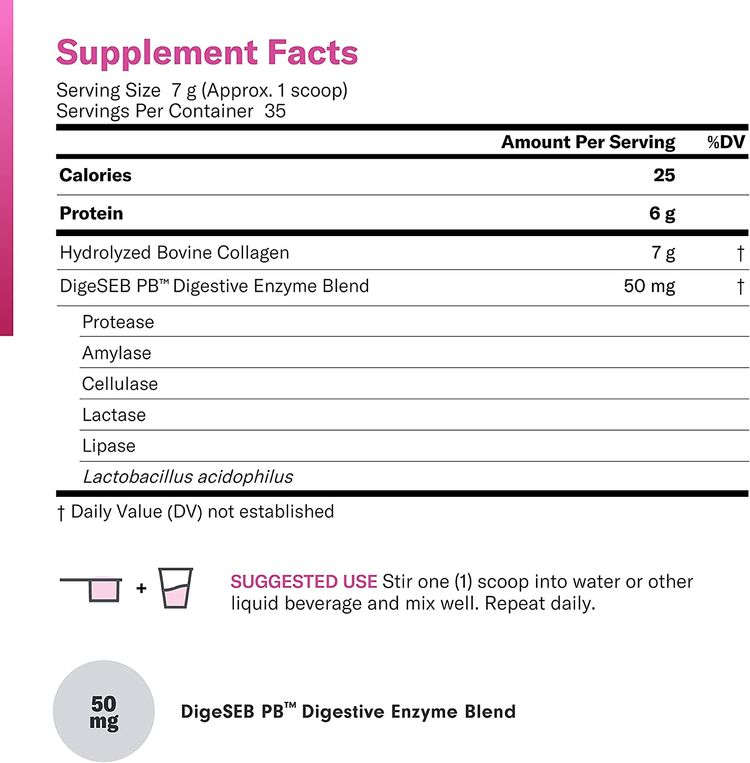 Collagen Peptides Powder - Enhanced Absorption - Supports Hair, Skin, Nails, Joints and Post Workout Recovery - Hydrolyzed Protein - Grass Fed, Non-GMO, Type I and III, Gluten-Free, Unflavored