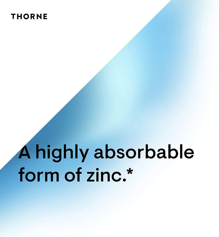 Thorne Research - Zinc Picolinate 30 mg - Well-Absorbed Zinc Supplement for Growth and Immune Function - 60 Capsules