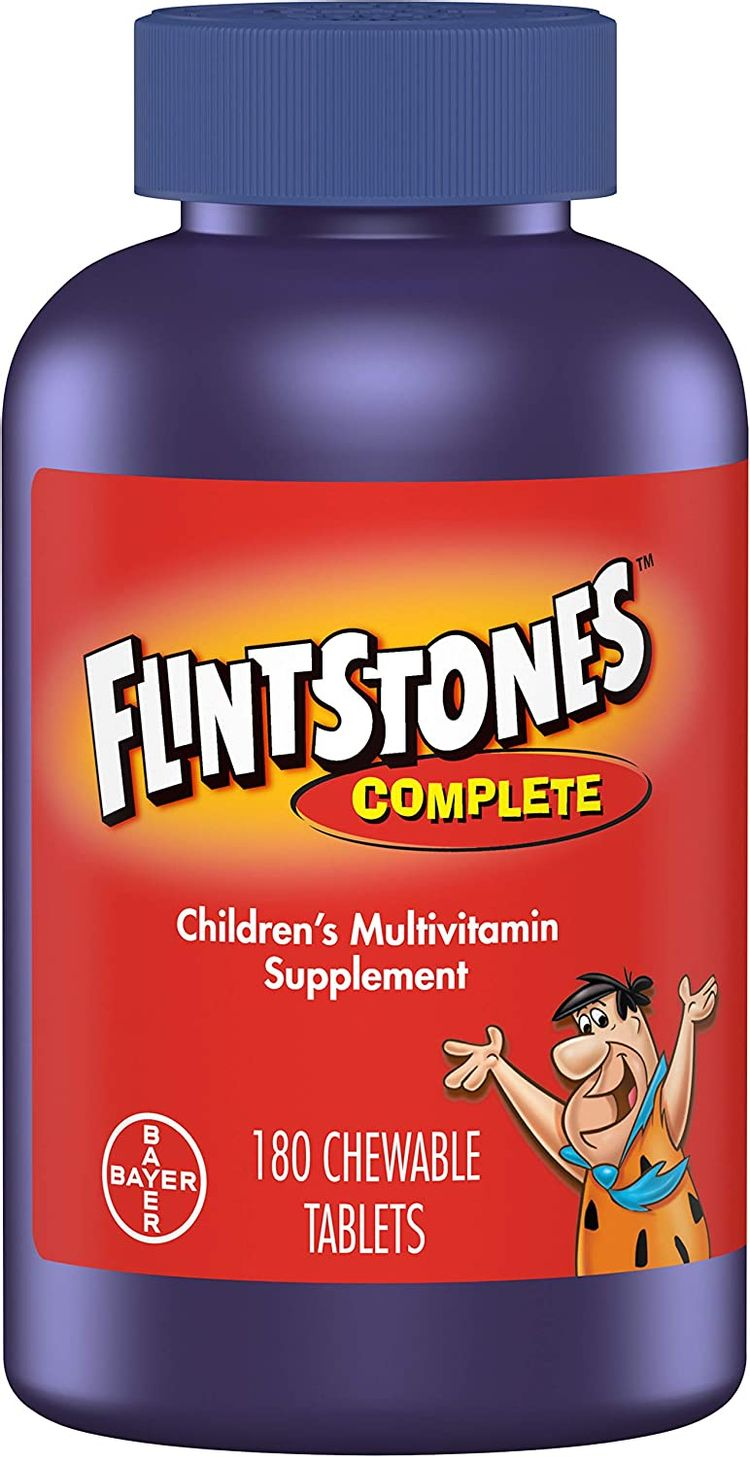 Flintstones Chewable Kids Vitamins, Complete Multivitamin for Kids and Toddlers with Iron, Calcium, Vitamin C, Vitamin D & more, 180ct