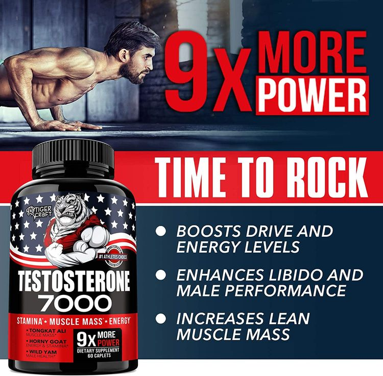Testosterone Booster for Men - Men Testosterone for Health, Energy & Stamina - Made in USA - Male Testosterone Enhancement with Horny Goat, Tongkat Ali- Muscle Mass Testosterone Supplement