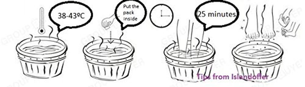 100pcs Foot Reflexology Chinese Medicine Foot Bath Powder Kits Cold Blood (Ginger)