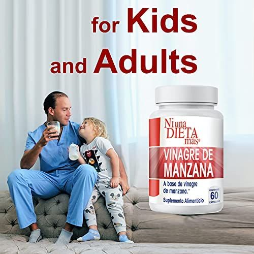 NI UNA DIETA MÁS Reduce Abdominal Fat - Vinegar Capsules - Best for Weight Loss - for Kids and Adults