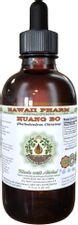 Huang Bo Alcohol-Free Liquid Extract, Huang Bo, Huang Bai, Amur Cork Tree (Phellodendron Chinense) Bark Glycerite Herbal Supplement 2 oz
