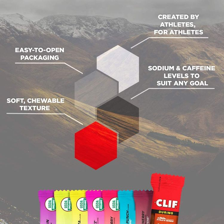 Clif BLOKS - Energy Chews - 8 Flavor Variety Pack - Non-GMO - Plant Based Food - Fast Carbs for Cycling and Running - Workout Snack (2.1 Ounce Packet, 8 Count)