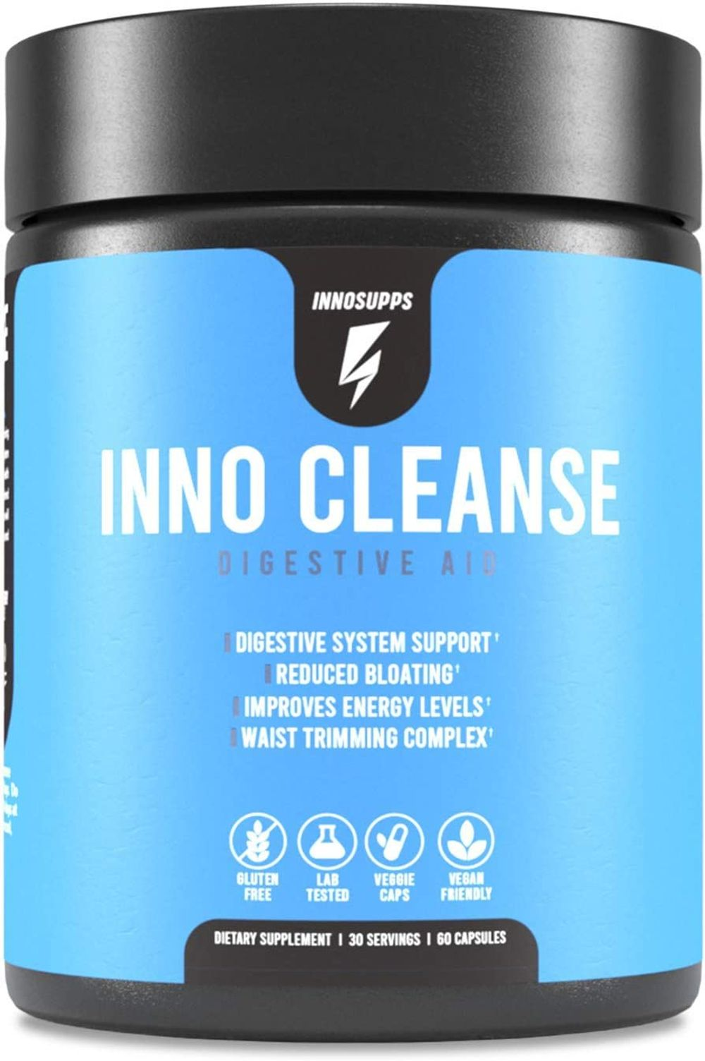 Inno Cleanse - Waist Trimming Complex   Digestive System Support & Aid   Reduced Bloating   Improves Energy Levels   Gluten Free, Vegan Friendly