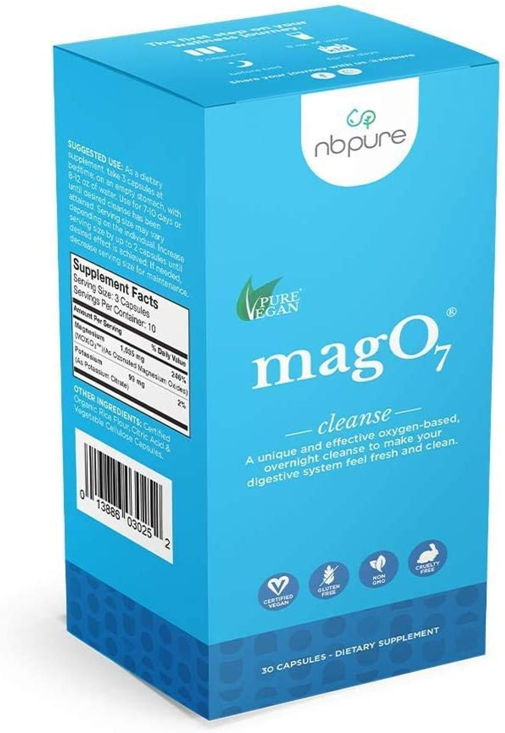 nbpure Mag O7 Oxygen Digestive System Cleanser Capsules (30 Count)