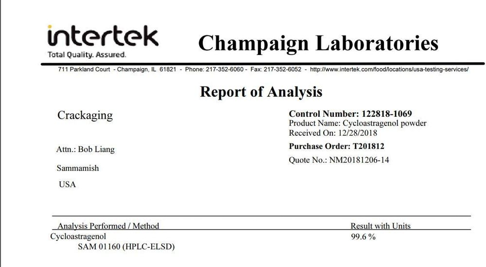 Crackaging Super-Absorption Cycloastragenol 98% Telomere Supplements 5mg 120caps