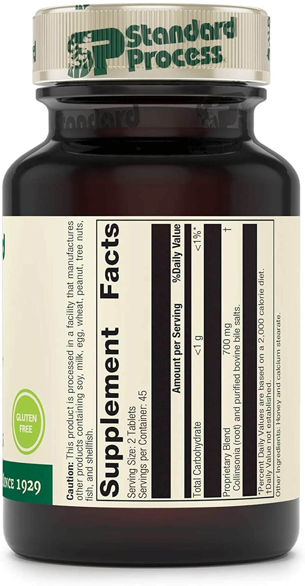 Standard Process Cholacol - Fat Digestion Enzymes and Gallbladder Support with Honey, Bile Salts, Collinsonia Root - 90 Tablets