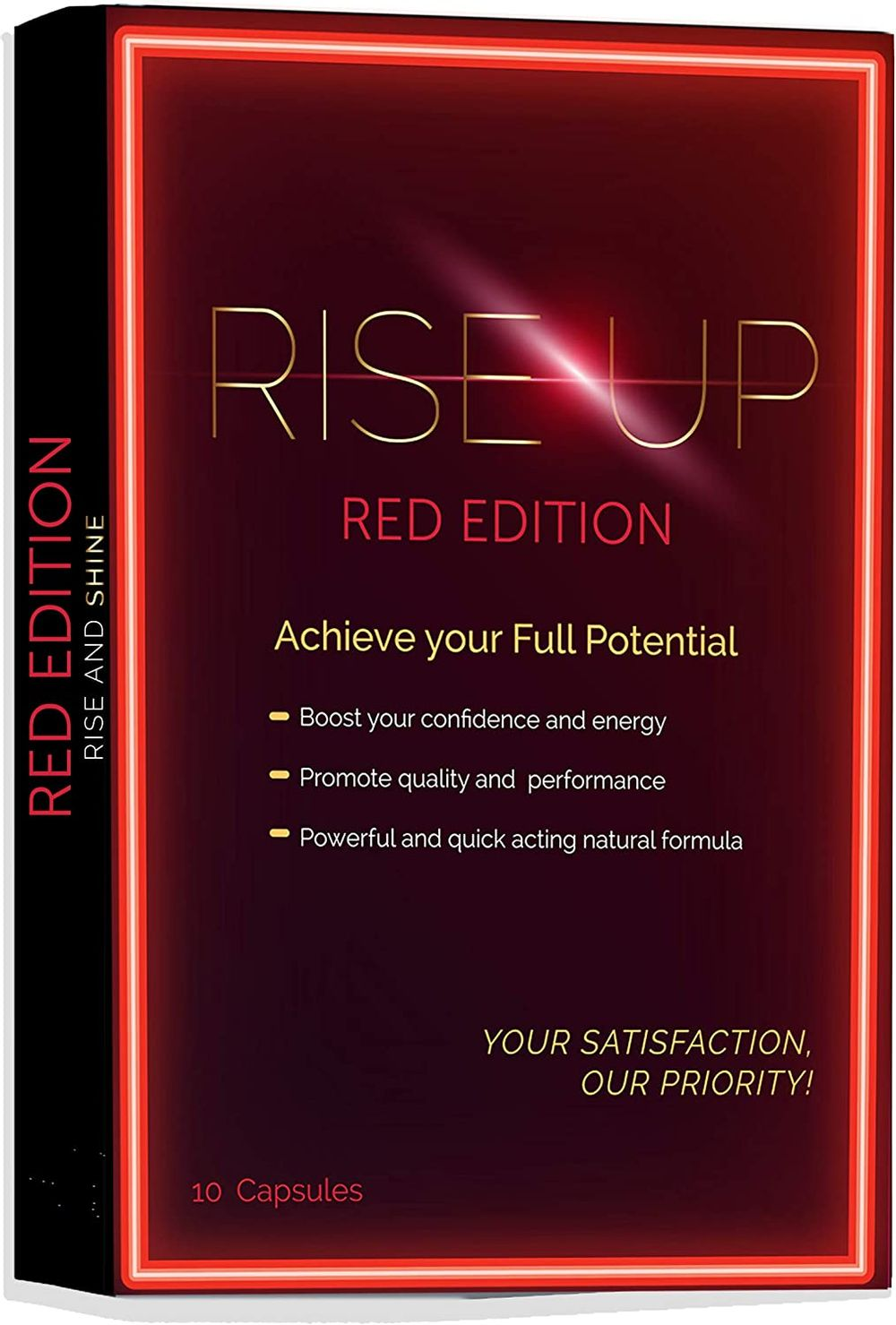 Rise Up, Red Edition Natural Male Energy Supplement, 1-Pack 10 Capsules