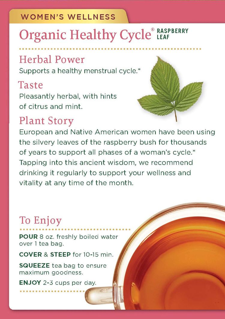 Traditional Medicinals Organic Women's Tea Menstrual Cycle Support, 96 Count (Pack of 6)