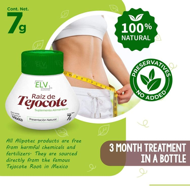 Nutraholics Original ELV Tejocote Root Treatment - Nueva Design - 1 Bottle (3 Month Treatment) - Most Popular, All-Natural Weight Loss Supplement in Mexico