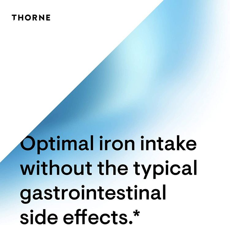 Thorne Research - Iron Bisglycinate - 25 mg Iron Supplement for Enhanced Absorption Without Gastrointestinal Side Effects - 60 Capsules