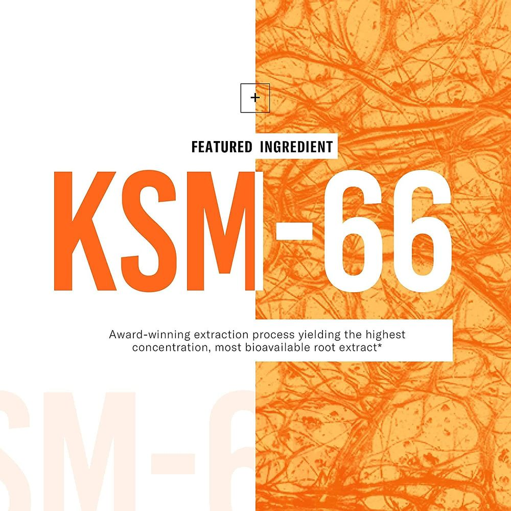 KSM-66 Ashwagandha Root Powder Extract, High Potency 5% Withanolides, 1000mg of Clinically Studied KSM66 & Black Pepper, Adrenal Support, Thyroid Support - Vegan, Non-GMO, 60 Capsules