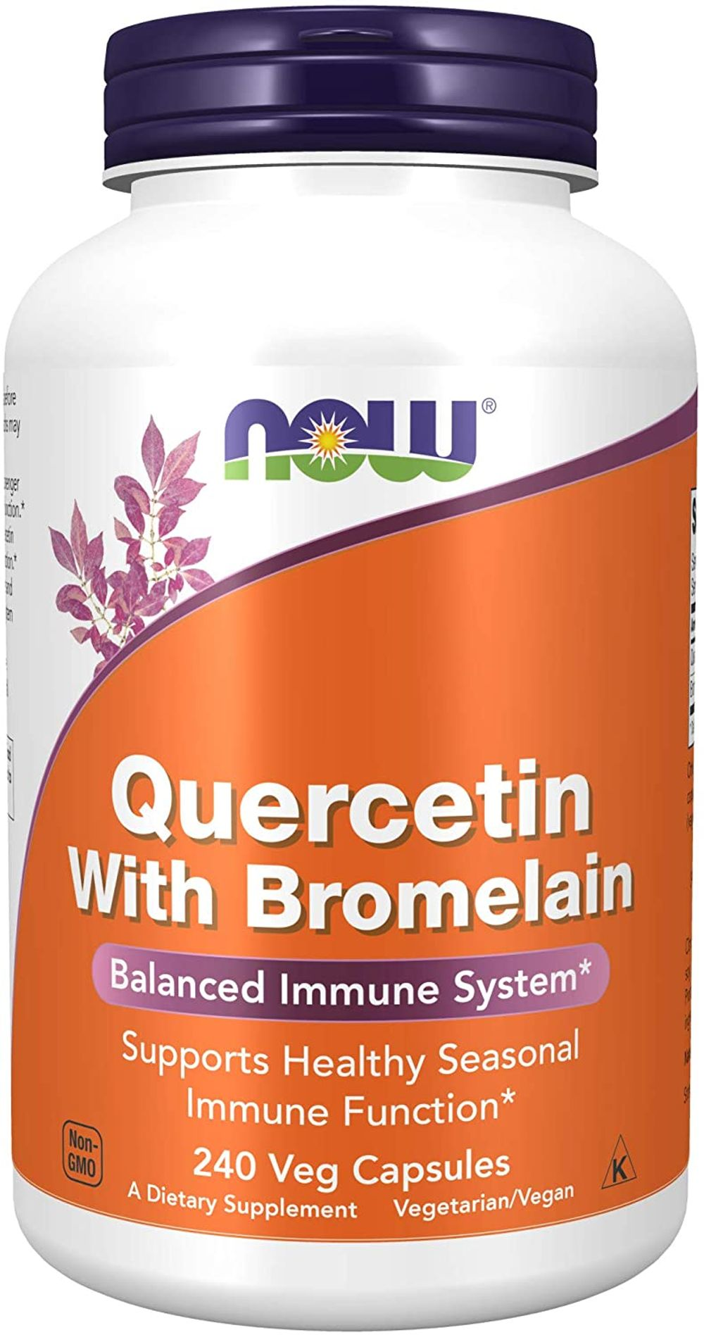 NOW Foods Supplements, Quercetin with Bromelain, Balanced Immune System, 240 Veg Capsules