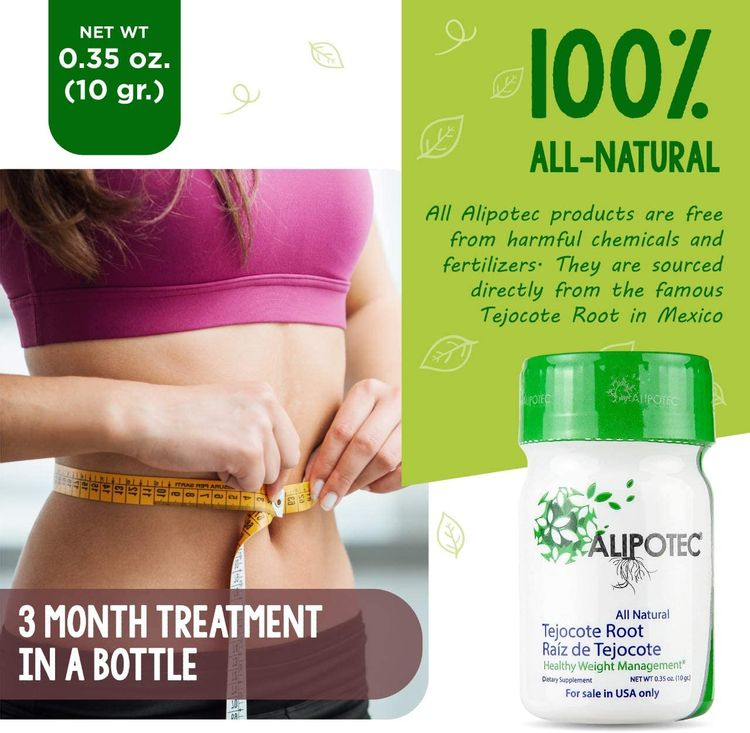 Nutraholics Pure Tejocote Root Treatment - 1 Bottle (3 Month Treatment) - Most Popular, All-Natural Weight Loss Supplement in Mexico - USA Label