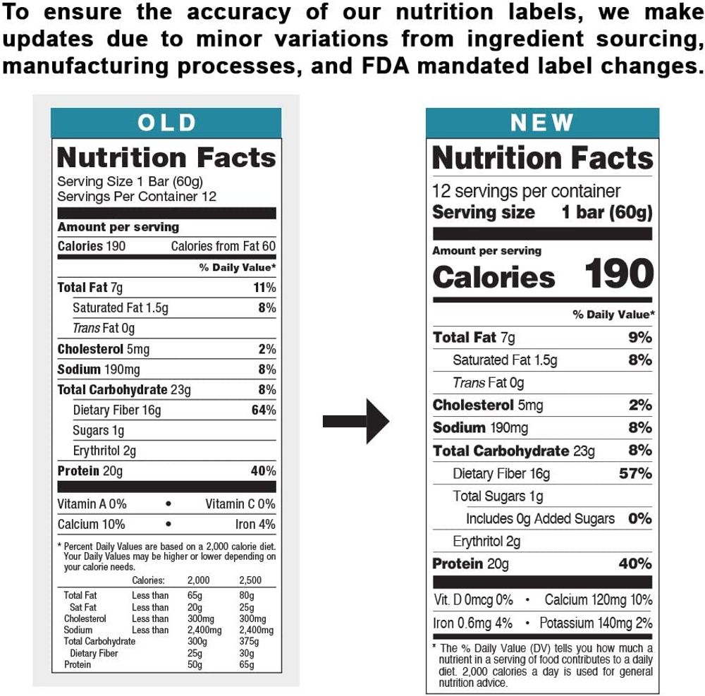 Quest Nutrition Oatmeal Chocolate Chip Protein Bar, Low Carb, Gluten Free, Keto Friendly, 12 Count