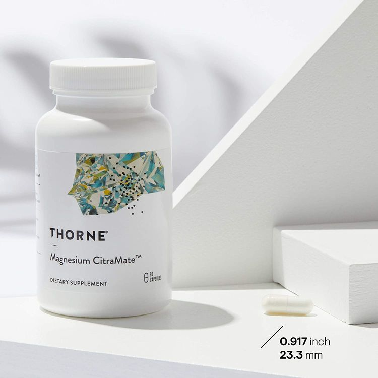 Thorne Research - Magnesium Citramate - Magnesium with Citrate-Malate to Promote Energy Production, Heart and Lung Function, and Metabolism of Sugar and Carbs - 90 Capsules