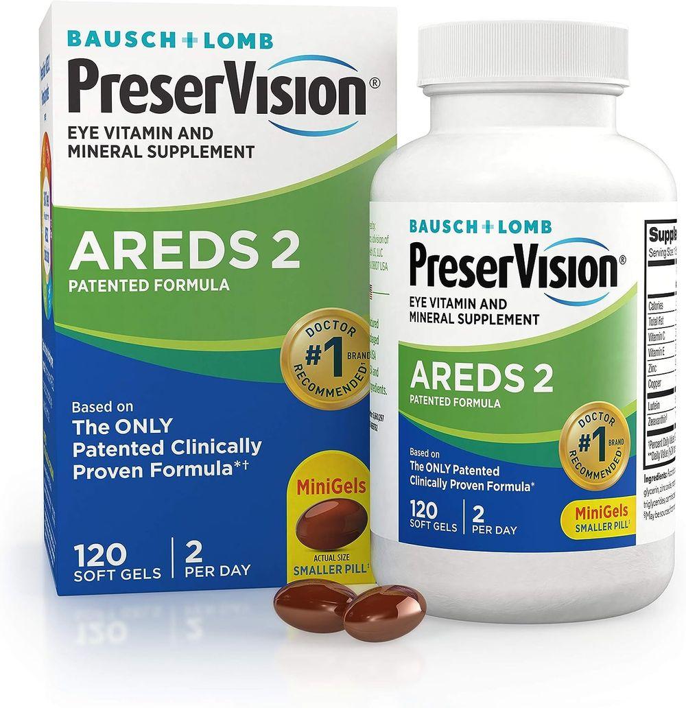 PreserVision AREDS 2 Eye Vitamin & Mineral Supplement, Contains Lutein, Vitamin C, Zeaxanthin, Zinc & Vitamin E, 120 Softgels