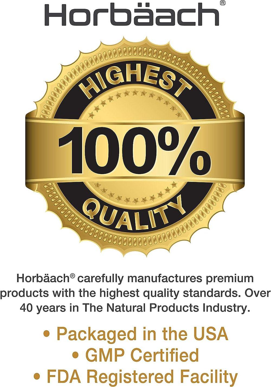 Horbaach GABA 750mg 100 Capsules   Non-GMO, Gluten Free   Gamma Aminobutyric Acid Supplement
