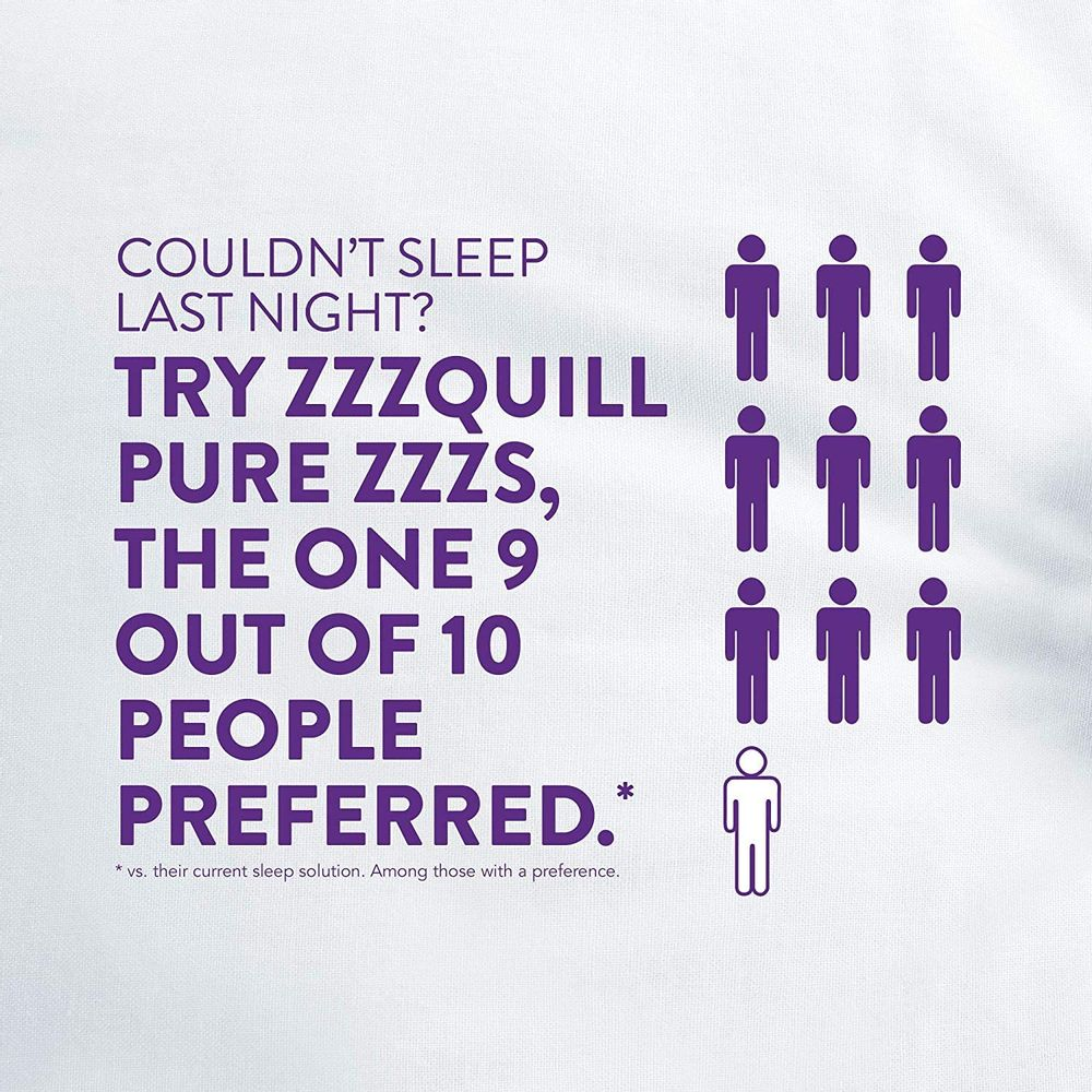 ZzzQuil Pure Zzzs, Melatonin Sleep Aid Gummies with Lavender, Valerian Root and Chamomile, Natural Wildberry Vanilla Flavor, Non-Habit Forming, Drug-Free, 72 Gummies