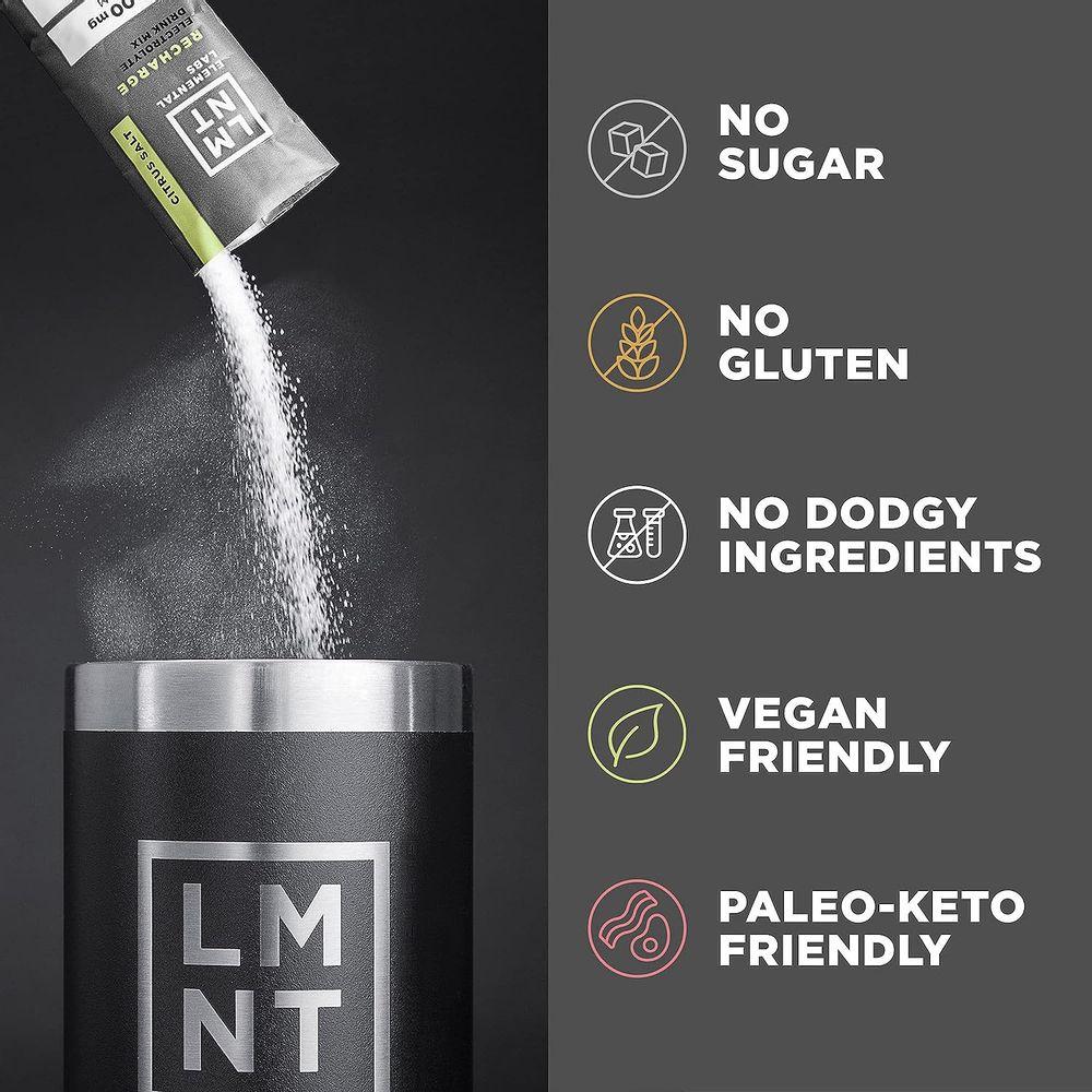 LMNT Keto Electrolyte Drink Mix   Paleo Hydration Powder   No Sugar, No Artificial Ingredients   Variety Pack   12 Stick Packs