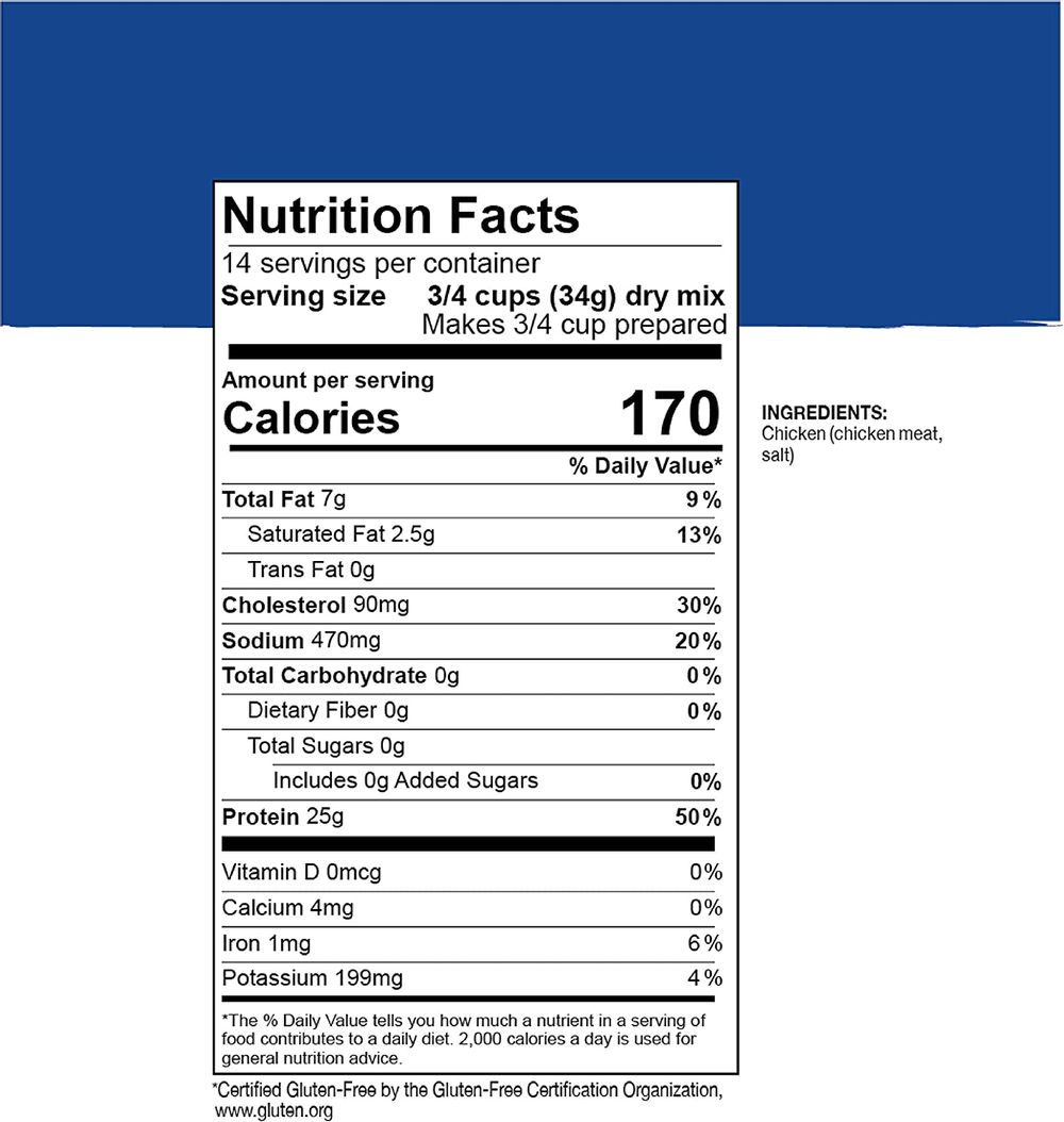 Mountain House Cooked Diced Chicken   Freeze Dried Survival & Emergency Food   #10 Can   Gluten-Free, 30235-Parent