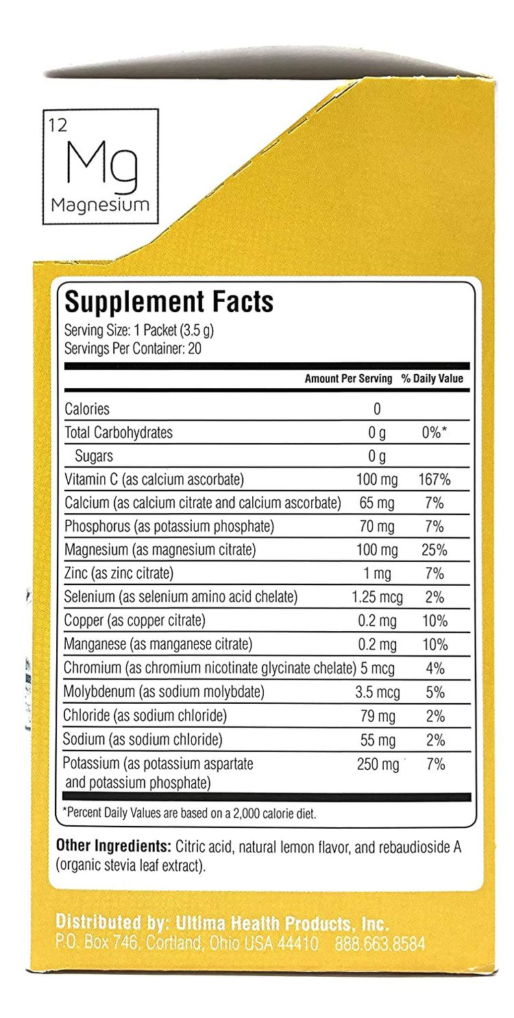 Ultima Replenisher Electrolyte Powder Raspberry and Lemonade Variety Pack of 40 Packets