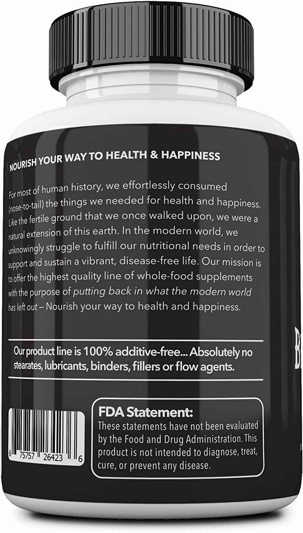Ancestral Supplements Grass Fed Beef Organs (Desiccated) — Liver, Heart, Kidney, Pancreas, Spleen (180 Capsules)