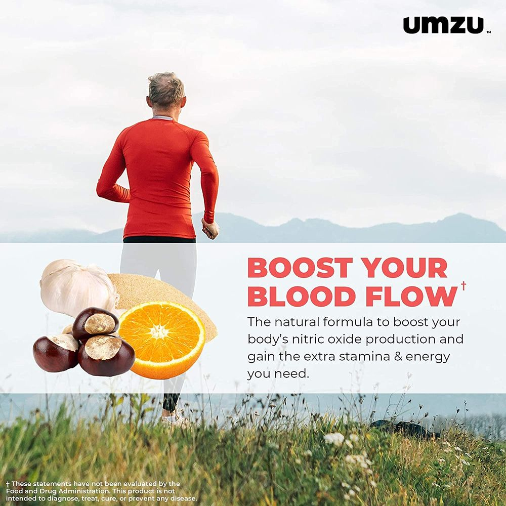 UMZU Redwood, Nitric Oxide Booster Capsules - 30 Day Supply - N.O. Supplement for Circulatory Support