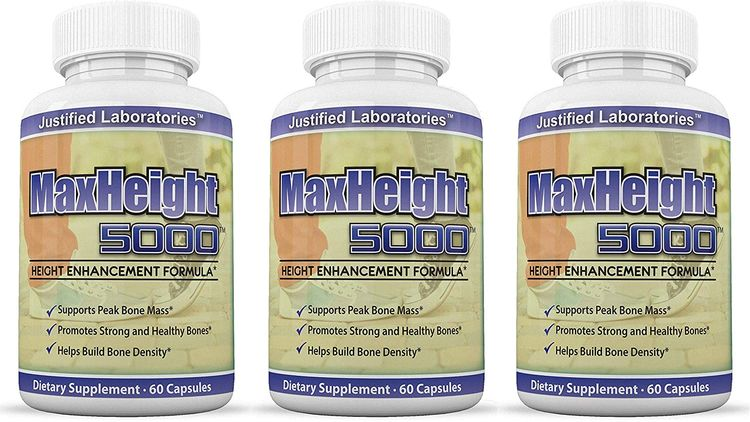 MaxHeight 5000 Height Enhancement Bone Growth Formula 60 Capsules 3 Bottles