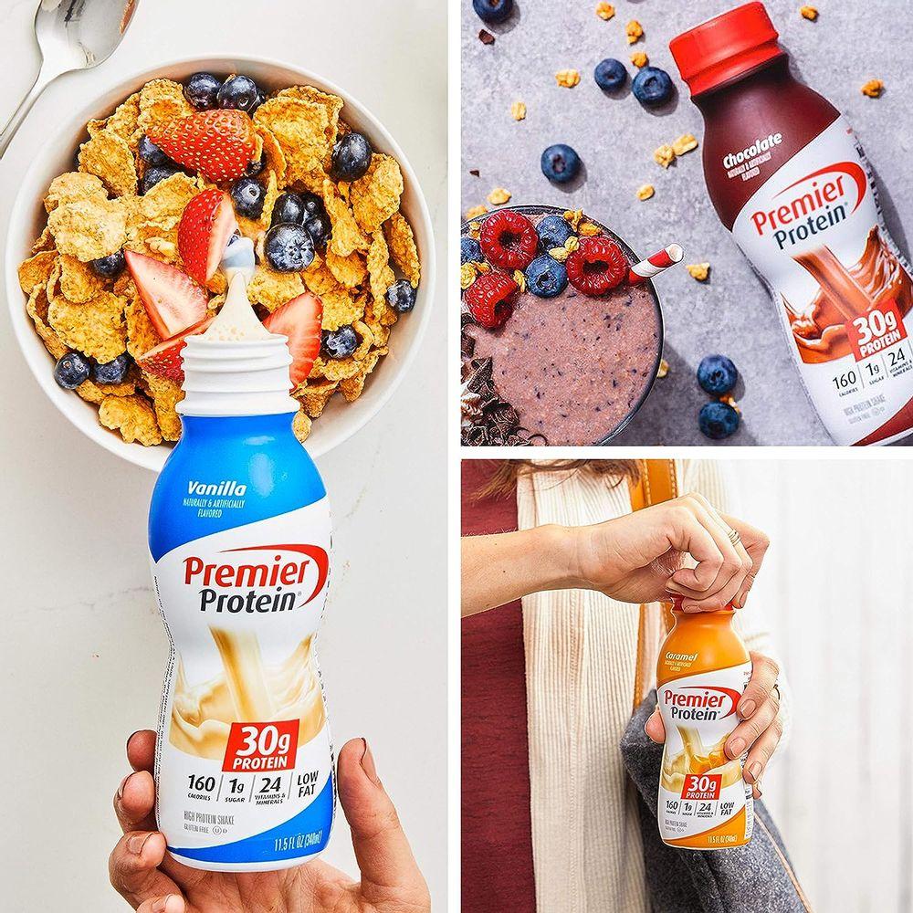 Premier Protein Shake, 8 Flavor Variety Pack, 30g Protein, 1g Sugar, 24 Vitamins & Minerals, Nutrients to Support Immune Health 11.5 Fl Oz (8 Pack)