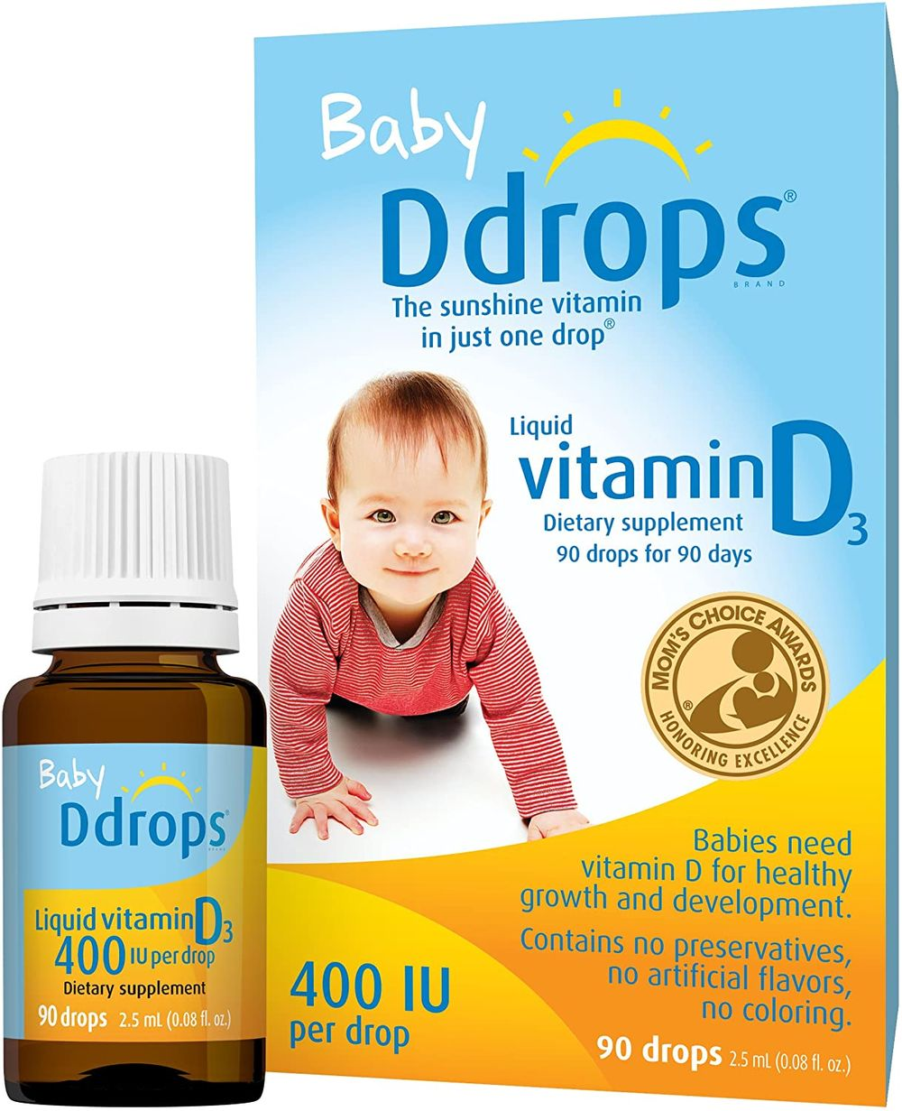 Baby Ddrops® 400 IU 90 Drops (0.08 Fl Oz) - Liquid Vitamin D3 Drops Supplement for Infants