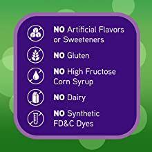 No Artificial Flavors or Sweeteners No Gluten