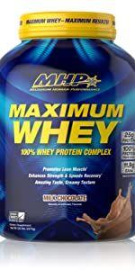 Maximum Whey Protein, 25g Protein, Milk Chocolate, 50 Servings, 5 Pound