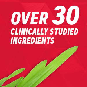 over 30 clinically studied ingredients