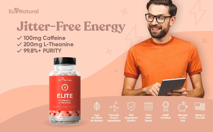ELITE Caffeine L Theanine Pills