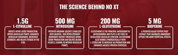 Ingredients: L-Citrulline, Nitrosigine, L-Glutathione, and BioPerine