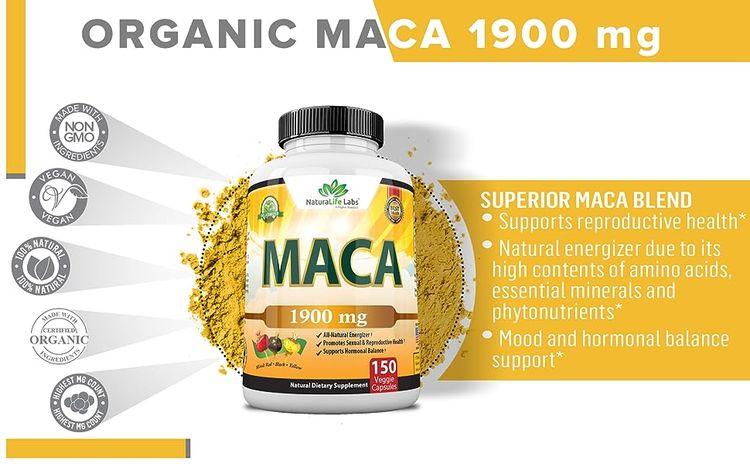 organic maca capsules