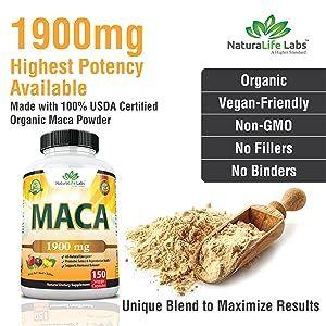 1900 mg maca high potency