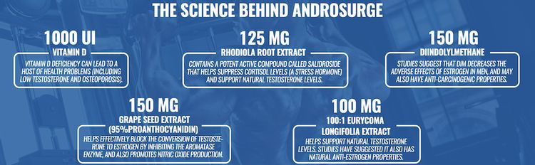 Ingredients: Vitamin D, Grape Seed Extract, Diindolylmethane, Rhodiola Root, and Longifolia